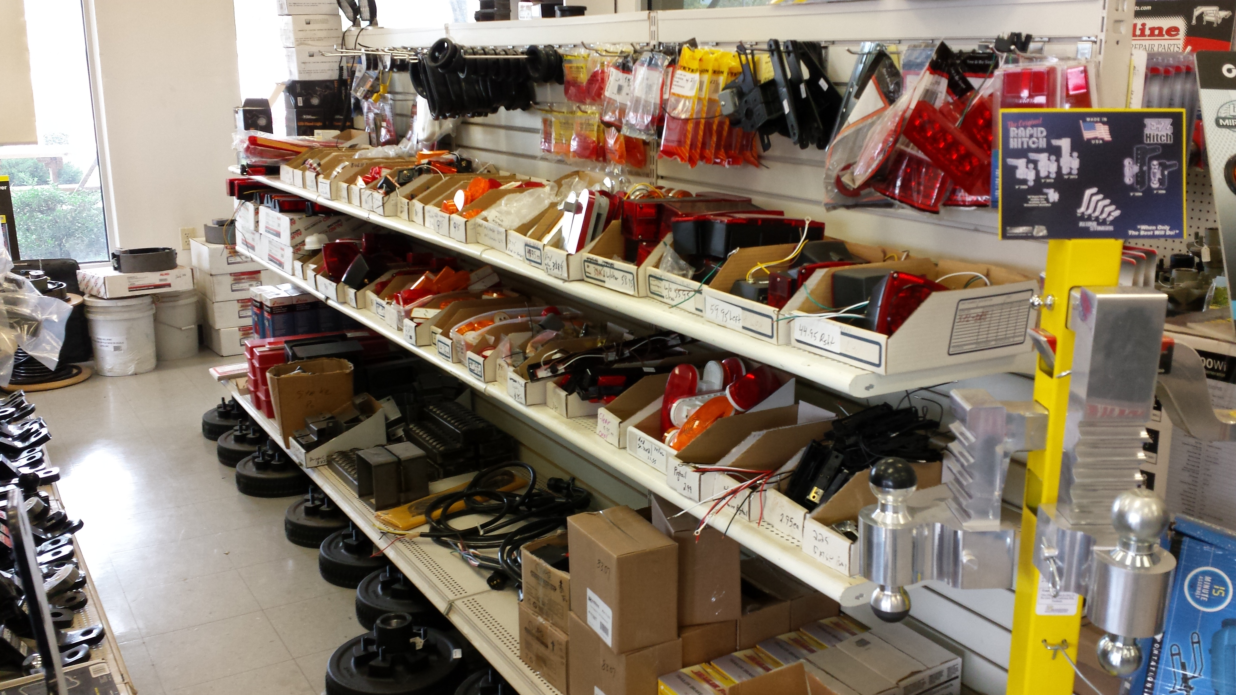 LED lights, brake controllers, wiring adaptors, connectors and wiring