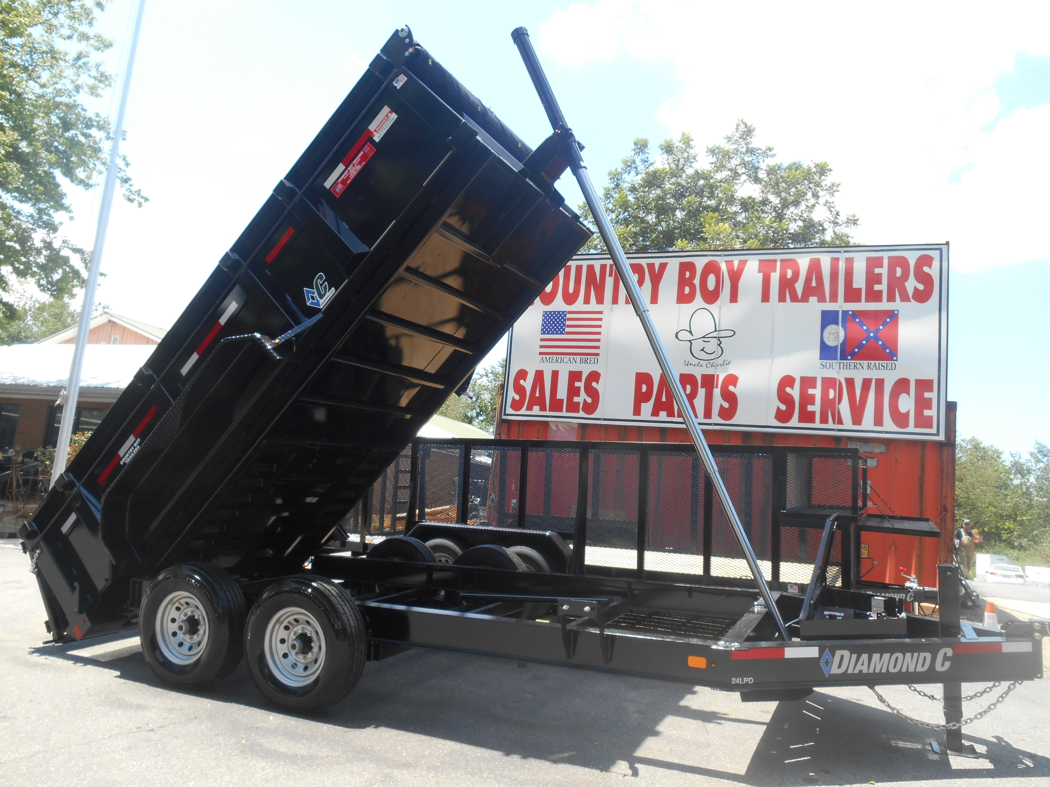 Home Country Boy Trailers We Offer A Huge Selection Of Trailer Brake Controller Wiring On Harbor Freight 24lpd 82x14 Dump W Telescopic Cilinder Gvwr 14900 Lb Weight 4200 Axles 2 7000 E Z Lube Electric Brakes