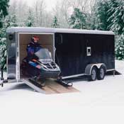 Enclosed Snowmobile and ATV Trailers