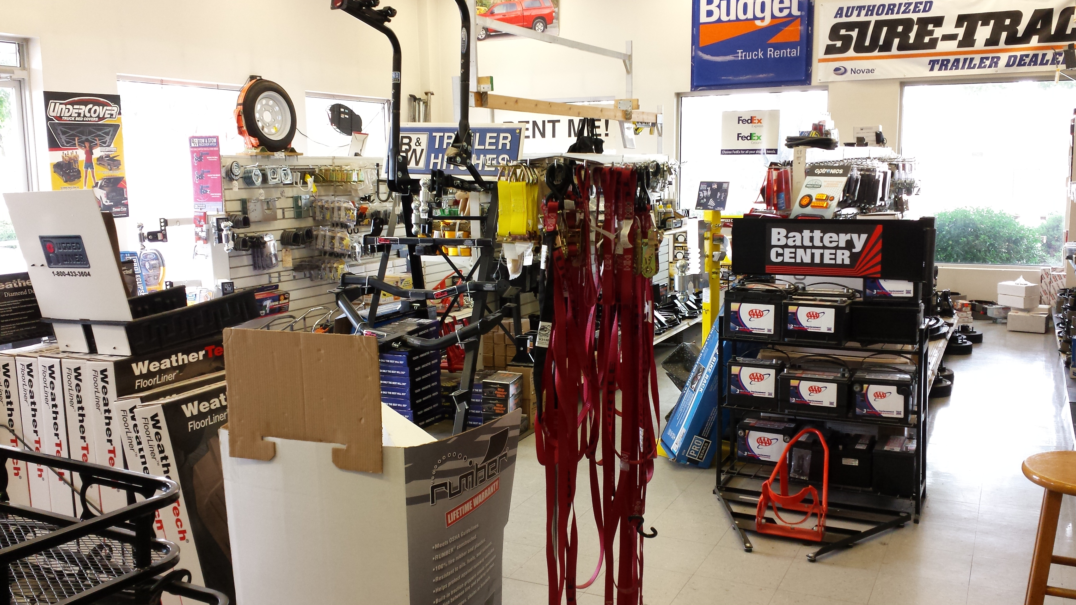Huge showroom, parts, LED lights, brakes, accessories