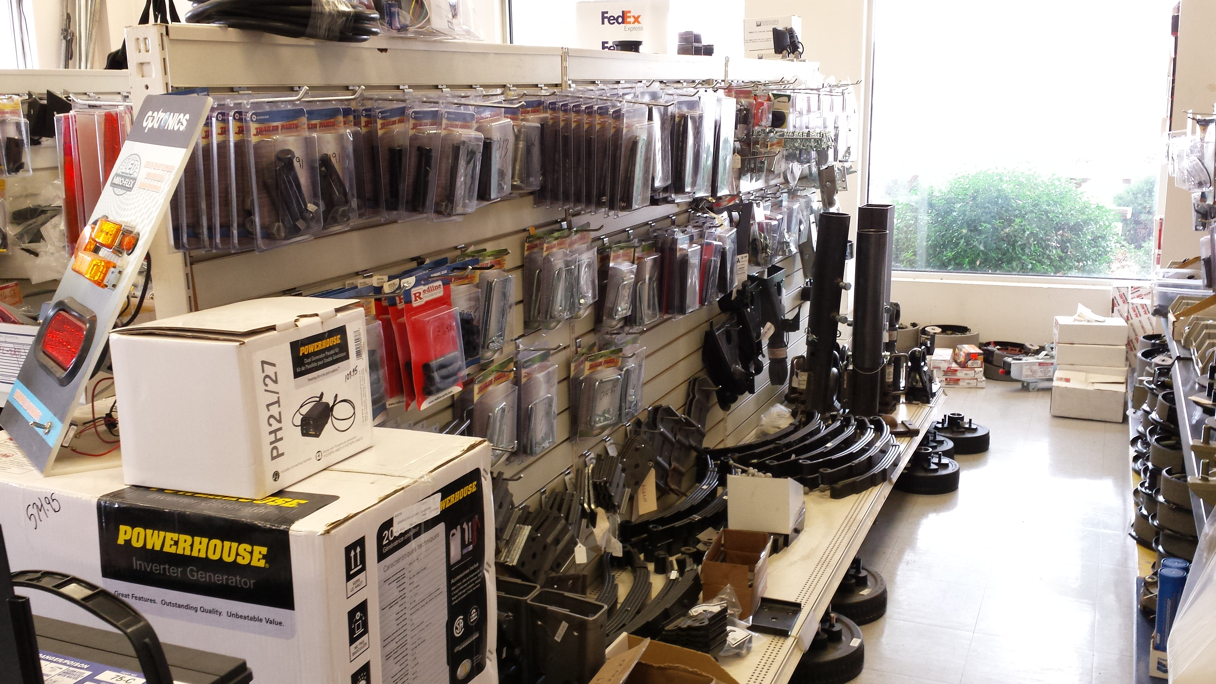 Axles, springs, u-bolts, hubs, couplers and gooseneck supplies