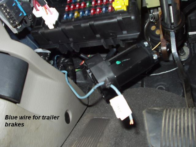 2000 Jeep Cherokee Brake Controller Install R and P Carriages