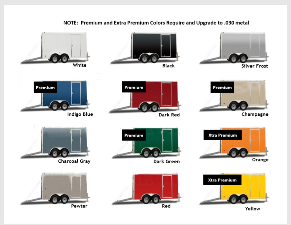 Trailer Color Options