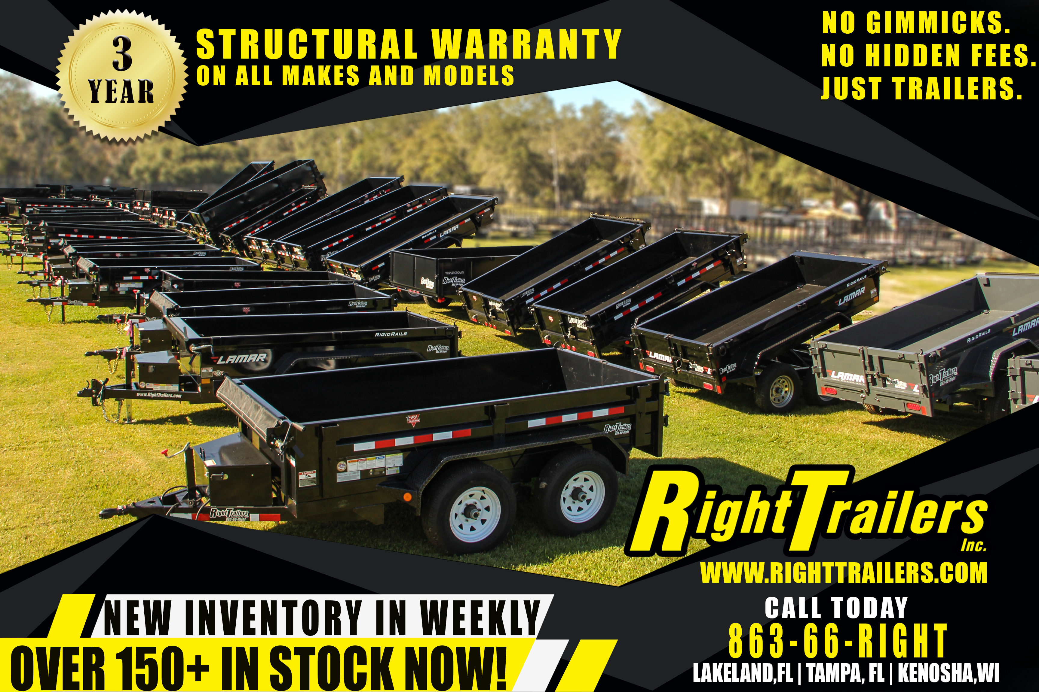 Home | Right Trailers | New And Used Cargo, Flatbed and Dump