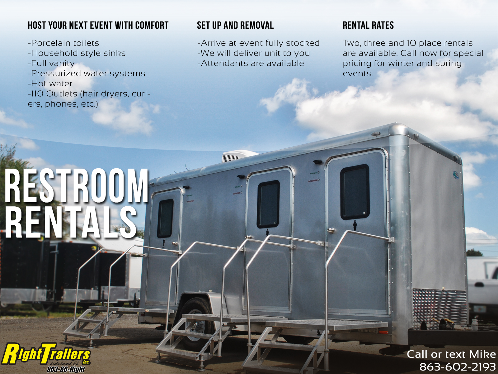 Rent | Restroom Trailers For Rent in Tampa FL and Portable Restrooms