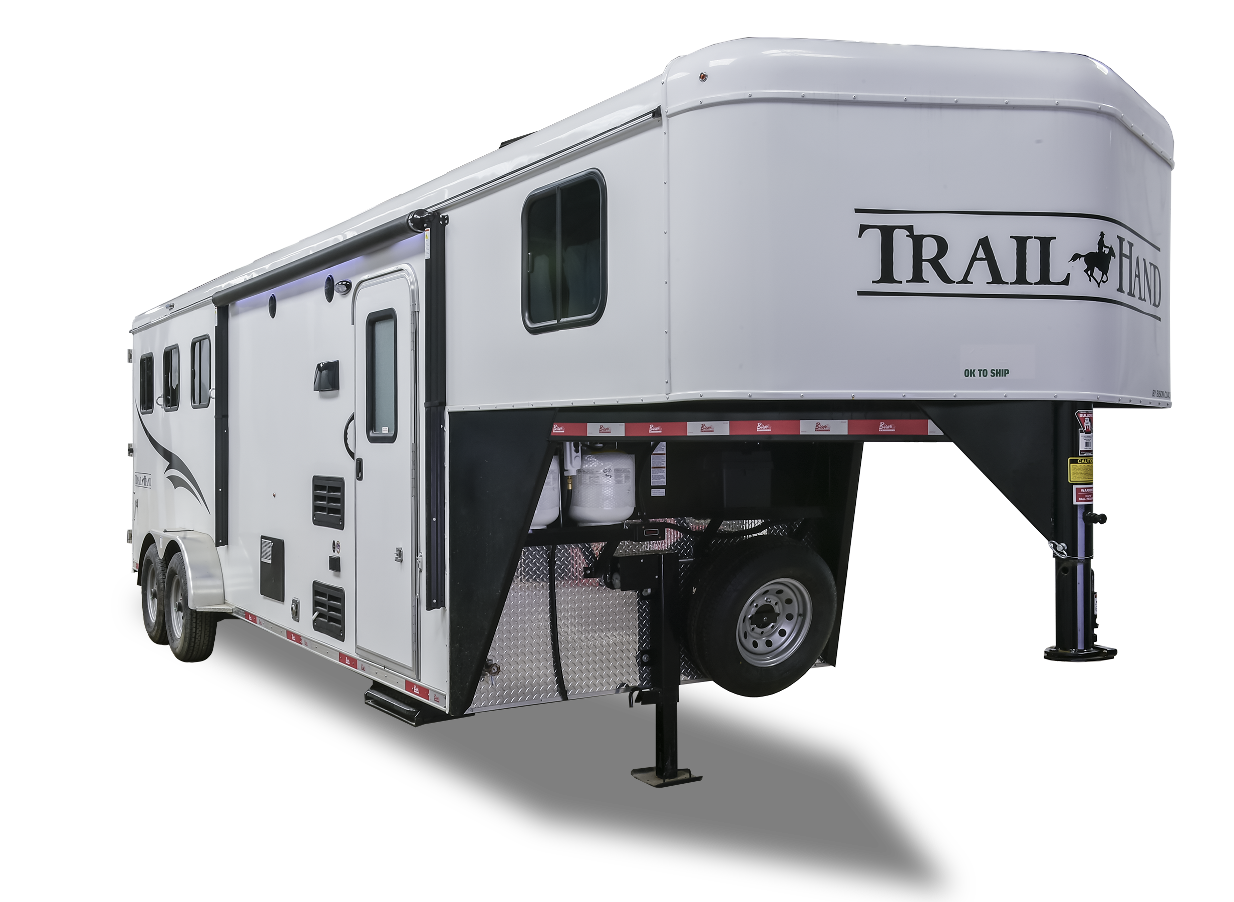 horse aluminum living img hart outlaw awning quarters awnings all listing the trailer with