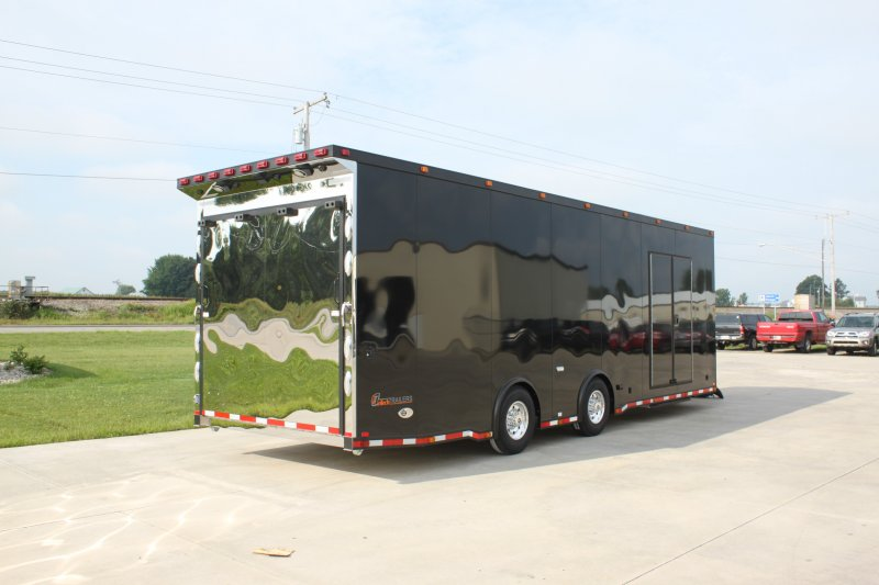 28' Black Out Pkg w/ Polished Stainless Rear Door